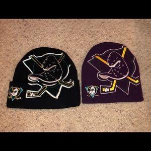 Vintage Mighty Ducks NHL Beanies
